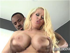 immense tit pornographic star Alura Jenson enjoys immense ebony fuck-stick
